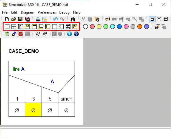 Demo diagram after CASE statement insertion