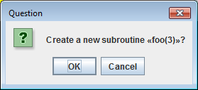 edit subroutine popup dialog