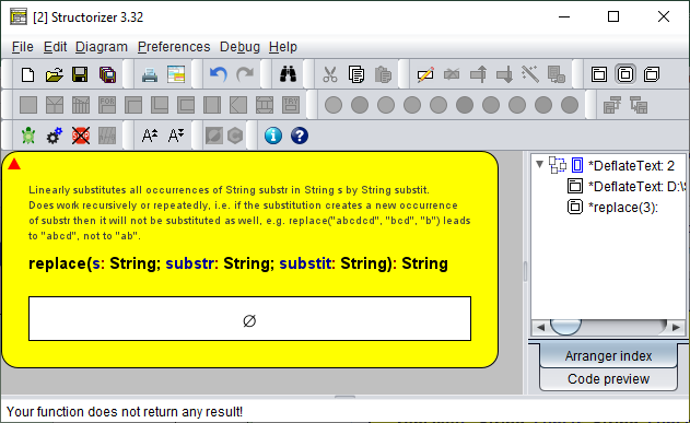 Fourth step in stepwise internal refinement: specification of subtasks