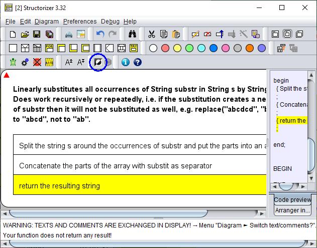 Fifth step in stepwise internal refinement: refinement of subtasks