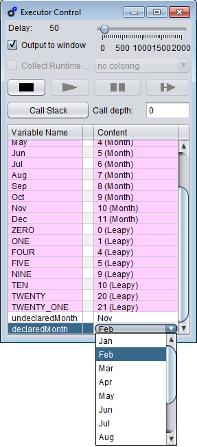 Choice list for enumerator variables
