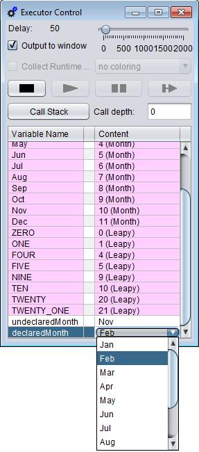 Choice list for enumerator variables