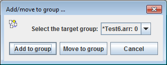 Decision box for group attachment