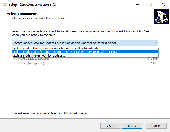 Windows installer - update policies
