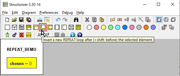 Select the REPEAT-Loop