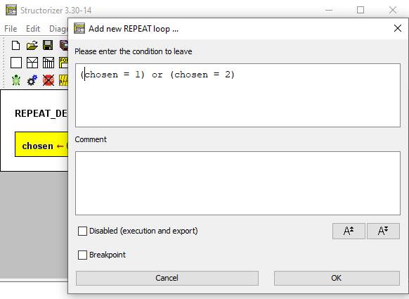 Edit the REPEAT-Loop
