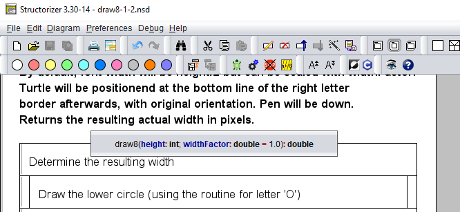 Highlighting applied to the comments popup in switched mode