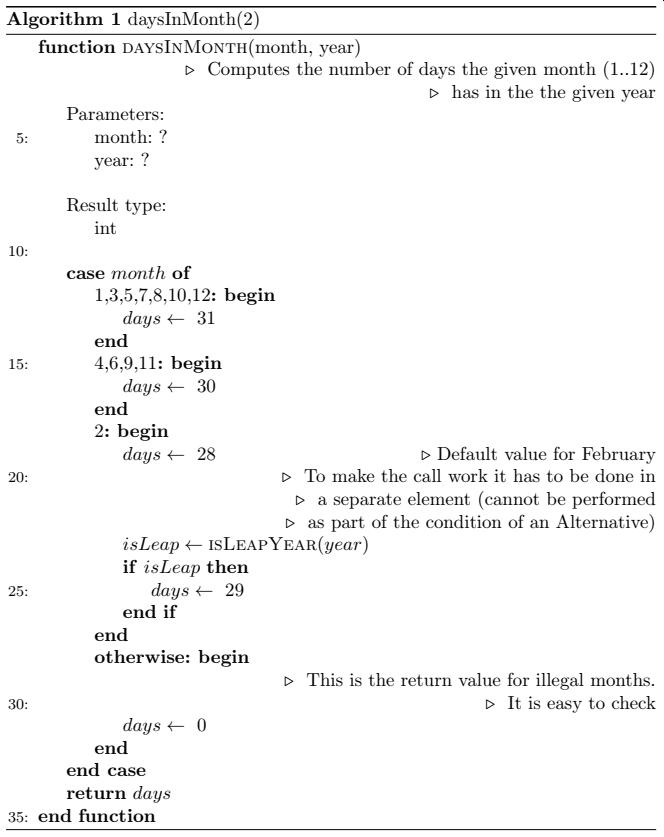 LaTeX algorithmics appearance
