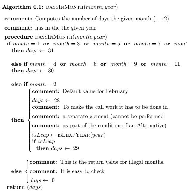 LaTeX pseudocode appearance