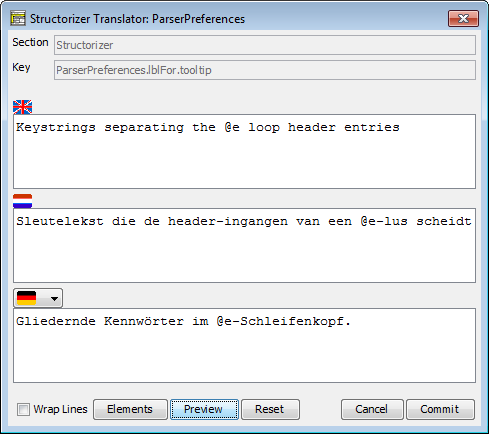 Translator Row Editor (with placeholders)