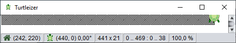 Meander pattern drawn in Turtleizer