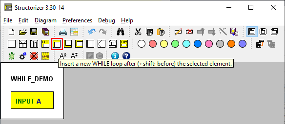 Select the WHILE-Loop
